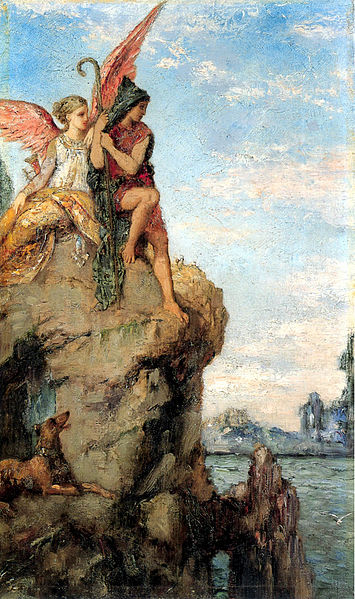 355px-Hesiod_and_the_Muse_by_Gustave_Moreau_1870
